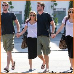 18.10.11 Miley et Liam Vont Déjeuner