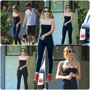 13.05.12 : Miley passe une journée à Studio City avec Liam et sa mère Tish.