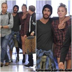 12.06.12 : MILEY & CHEYNE THOMAS SONT À MIAMI