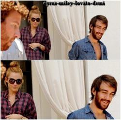 14.06.12 , Miley & Cheyne Thomas , Quittent leur Hôtel , Miami