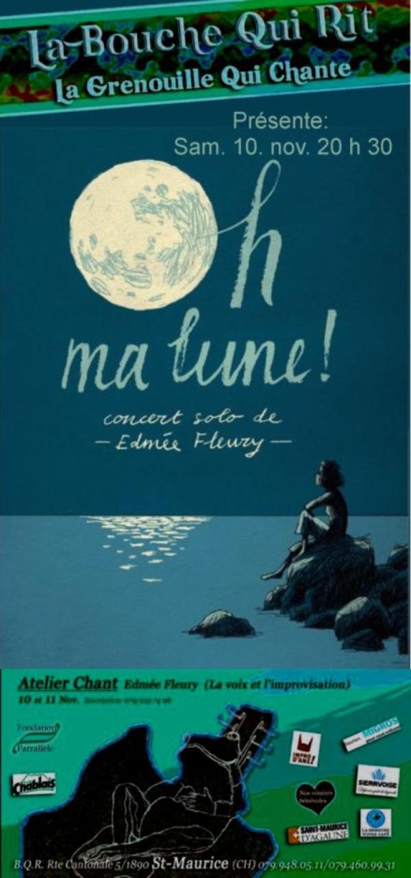 Oh ma lune !. Edmée Fleury.