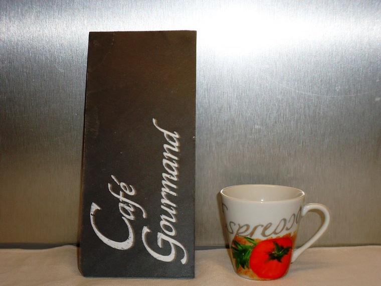 Tasse à café peinte à la main.
