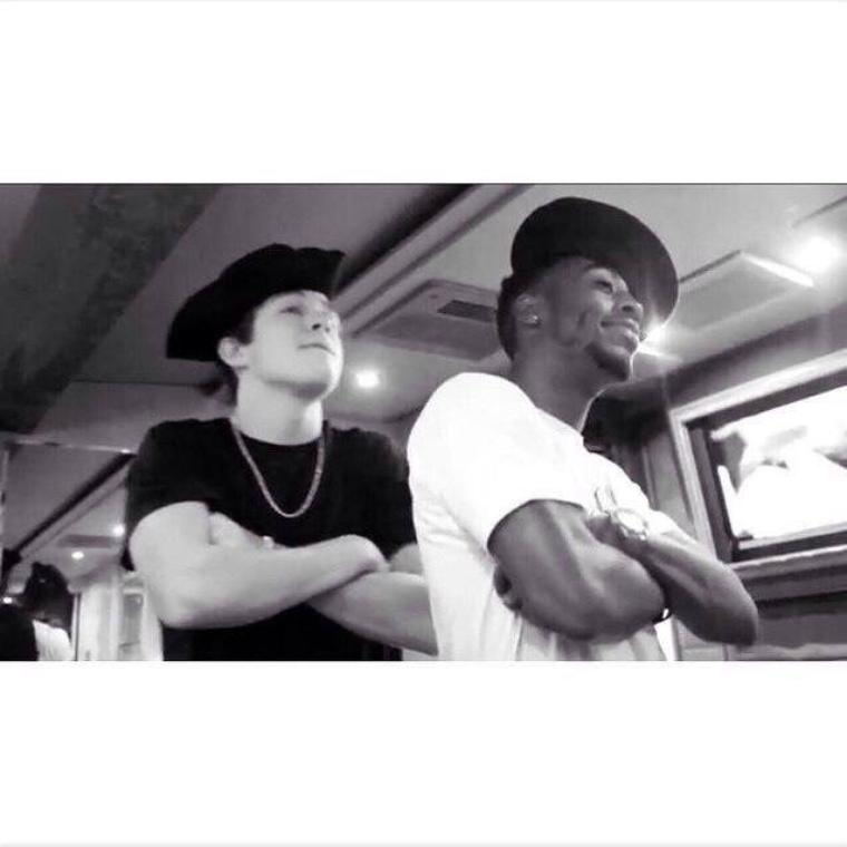 "#INSTAGRAM Austin's Dancer Joshua ""Go check out #Tourlife episode 14 . Sailor swag with my Brodie Austin!!!  #austinmahone #dbsmith"""