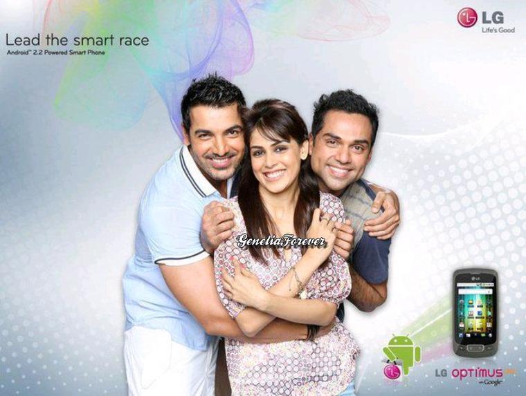 Genelia, John Abraham & Abhay Deol for LG Mobiles