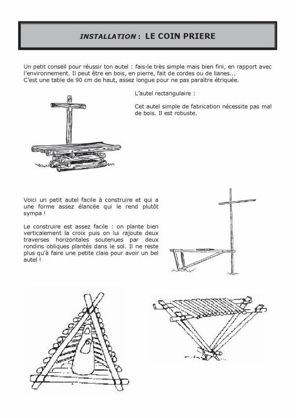 Construire une table à feu...
