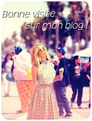 Bonne visite sur mon blog !