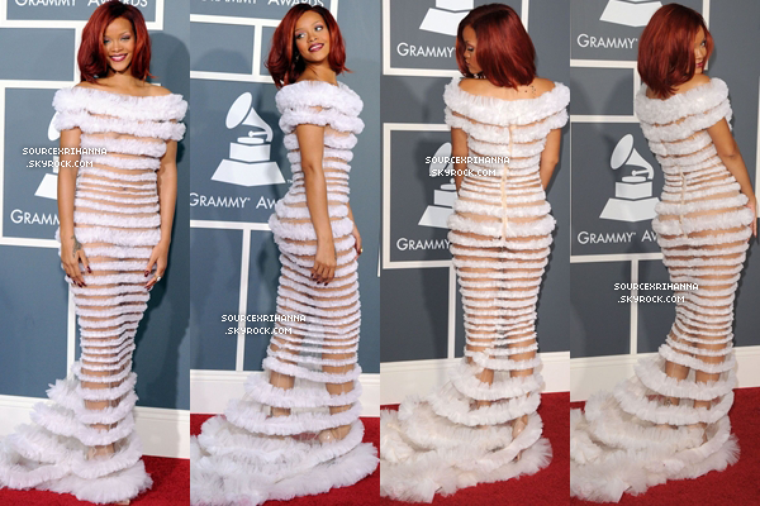"13/02/11 : Rihanna assiste à la cérémonie des ""Grammy Awards"" à Los Angeles.  // + Retrouvez des photos des performances de Rihanna. //"