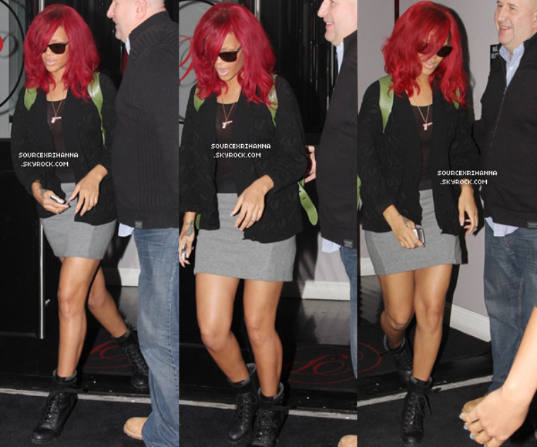 """05/01/11 : Rihanna quitte le restaurant """"Philippe Chow"""" à Los Angeles.  // + Rihanna va au magasin """"Fred Segal"""" toujours à Los Angeles ! //"""