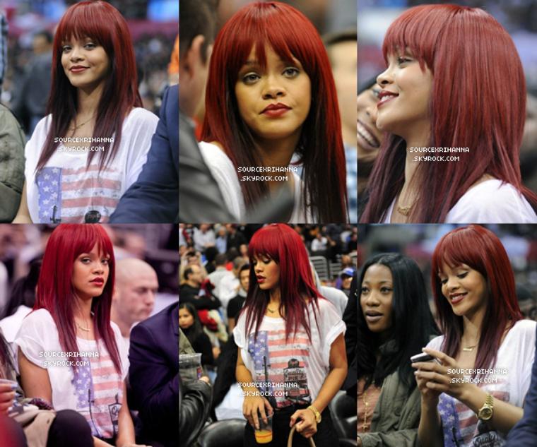12/01/11 : Rihanna assiste au Match des LA Clippers vs. The Miami Heat à Los Angeles.  // + Retrouvez des photos de Rihanna à son arrivée de l'évènement. MAGNIFIQUE! //