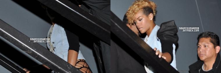10/01/10: Rihanna et Mélissa arrivent au restaurant à Los Angeles.