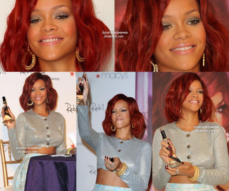 18/02/11 : Rihanna à la promotion de « Reb'l Fleur » au magasin « Macy's » à Los Angeles.  // + Rihanna est juste une bombe, elle est superbement belle. //