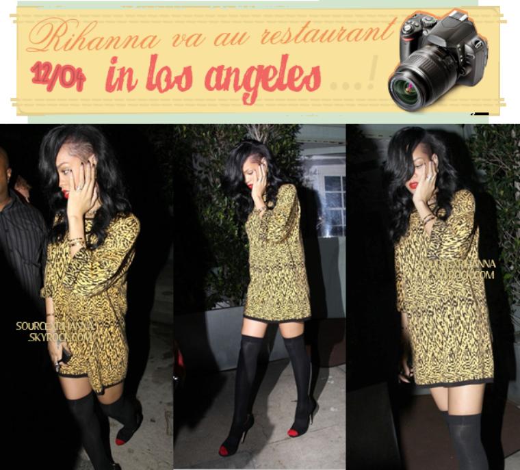 Rihanna de sortie au restaurant, les paparazzis ont pu se manger quelques F*ck par Riri. x)