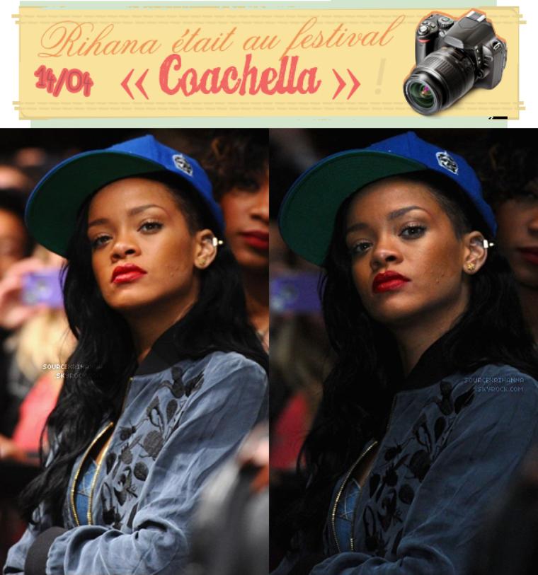 Rihanna au festival de la musique « Coachella » en Californie, plus quelques photos twitter !