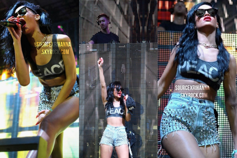 Rihanna performe « We Found Love » et « Where Have You Been » au festival « Coachella » !