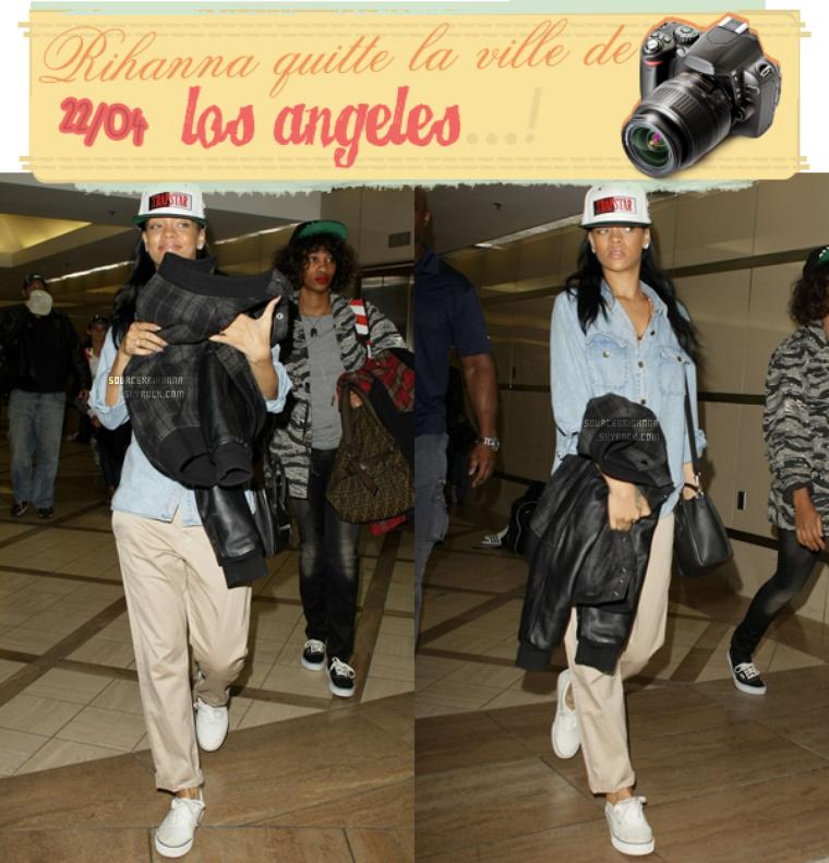 Rihanna vue quittant la ville de Los Angeles à l'aéroport « LAX » elle assistera au gala « Time 100  » !