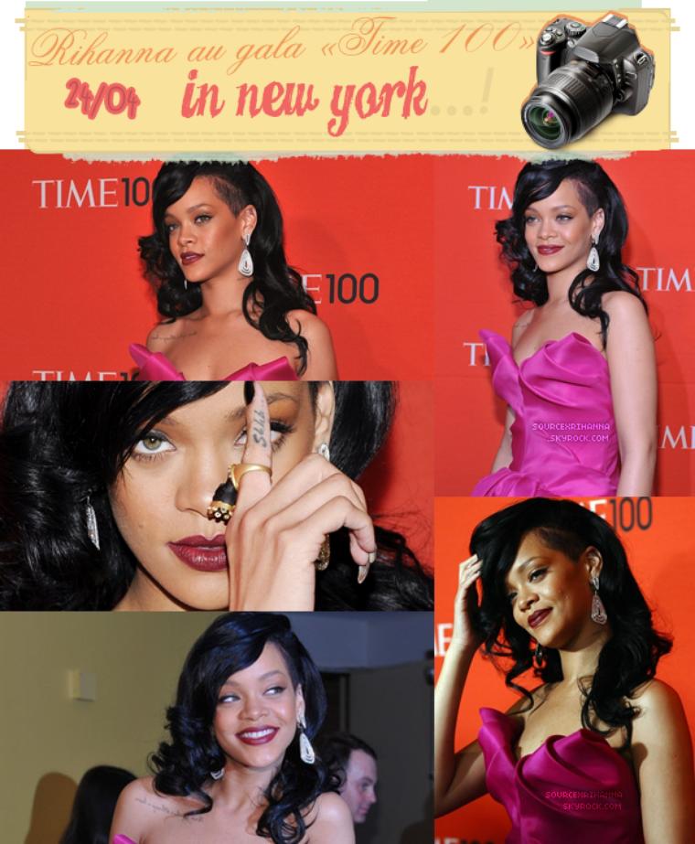 Rihanna au gala « Time 100 », avec une robe « Marchesa » et des chaussures « Louboutin »