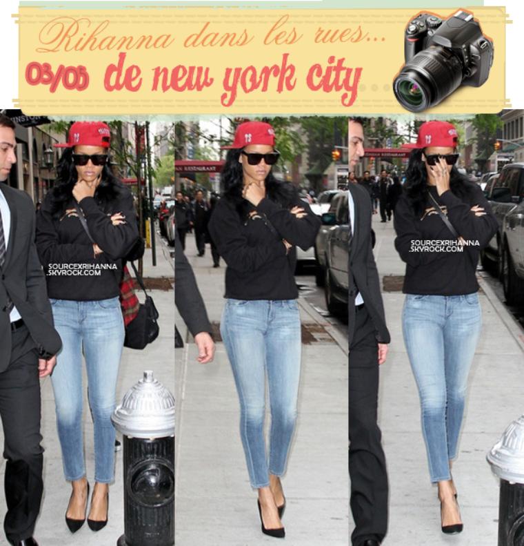 Après avoir enregistrée le « Saturday Night Live » Rihanna aperçue rentrant à son hôtel.