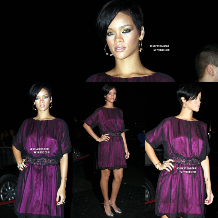 29/02/08: Rihanna à la Swarovski Party au Show Case à Paris.