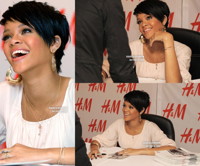 "31/01/08: Rihanna au Lancement de la collection ""Fashion Against AIDS"" par H&M."