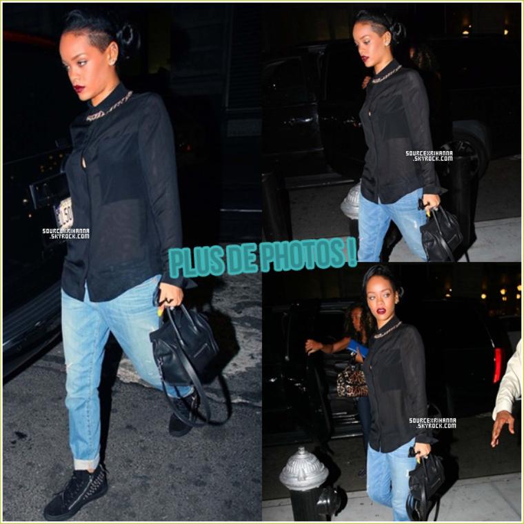 Rihanna de sortie au restaurant « Da Silvano » ce quatorze juin.