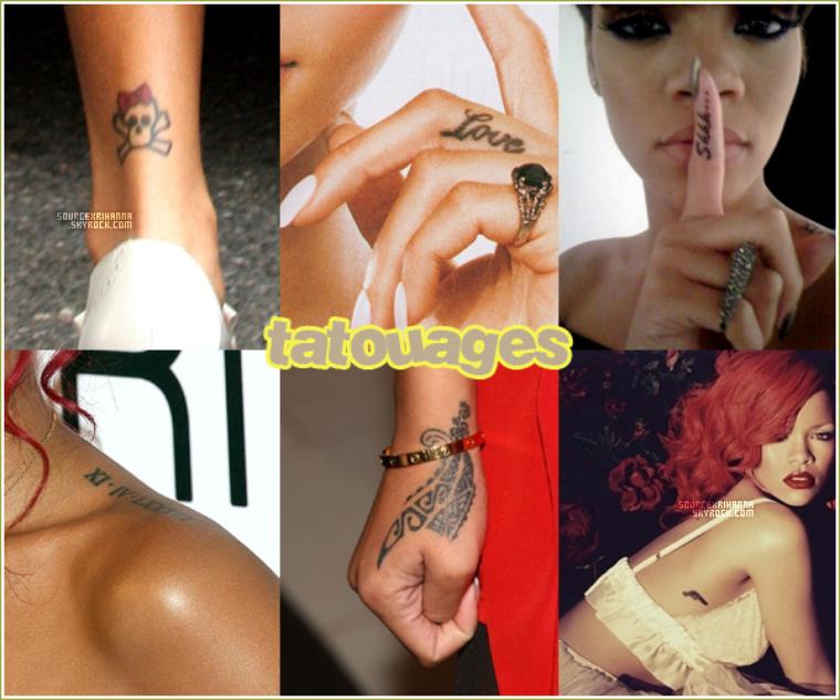 Robyn Rihanna Fenty et sa grande folie, les tatouages !