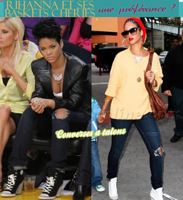 Rihanna et ses différentes baskets de marque, ça passe ou ça casse ? Choisis ta marque préféré de la belle !