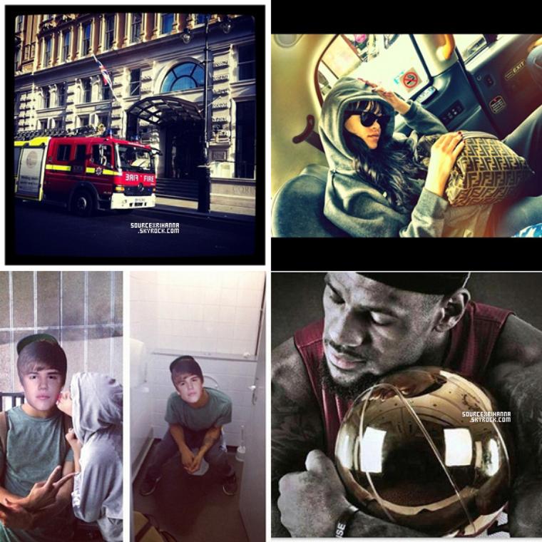 Photos provenant du compte instagram de Rihanna.