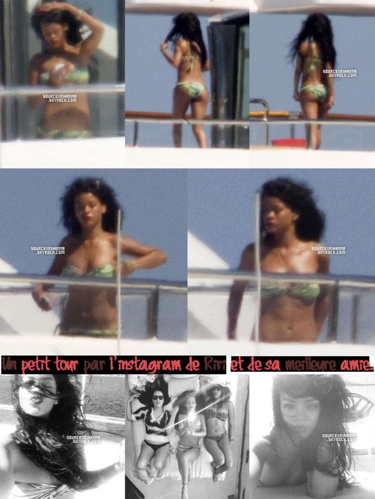 17JUILLET// Rihanna accompagné de ses amies dans les rues de Porto Cervo en Italie.