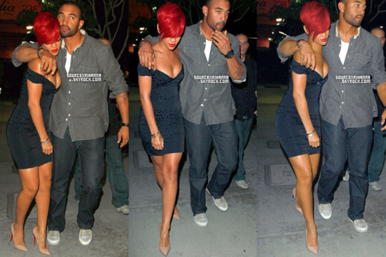 26/07/10: Rihanna et Matt Kemp quittent le restaurant Maestro's Steakhouse à LA.