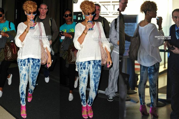 03/01/10: Rihanna et Matt Kemp à l'aéroport de Los Angeles.