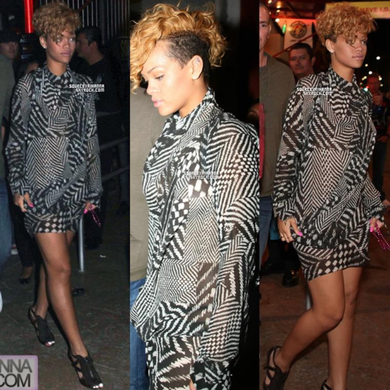"""04/01/10: Rihanna et Matt Kemp quittent le club """"Squid Roe"""" à Cabo San Lucas."""