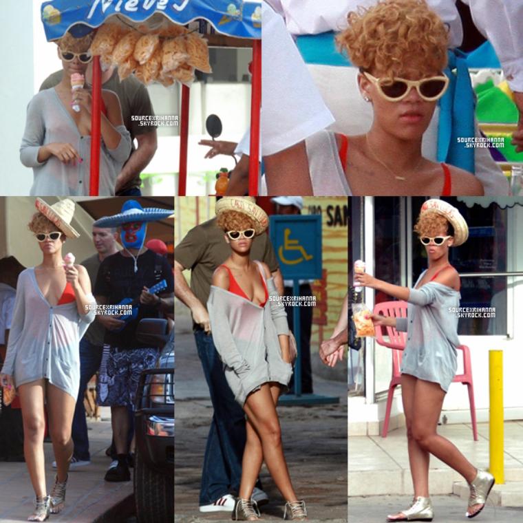 05/01/10: Rihanna et Matt Kemp mangent une glace  à Cabo San Lucas.