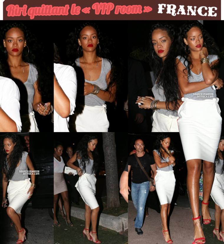 21JUILLET// Rihanna accompagné de ses amies quittant un club à Saint-Tropez.