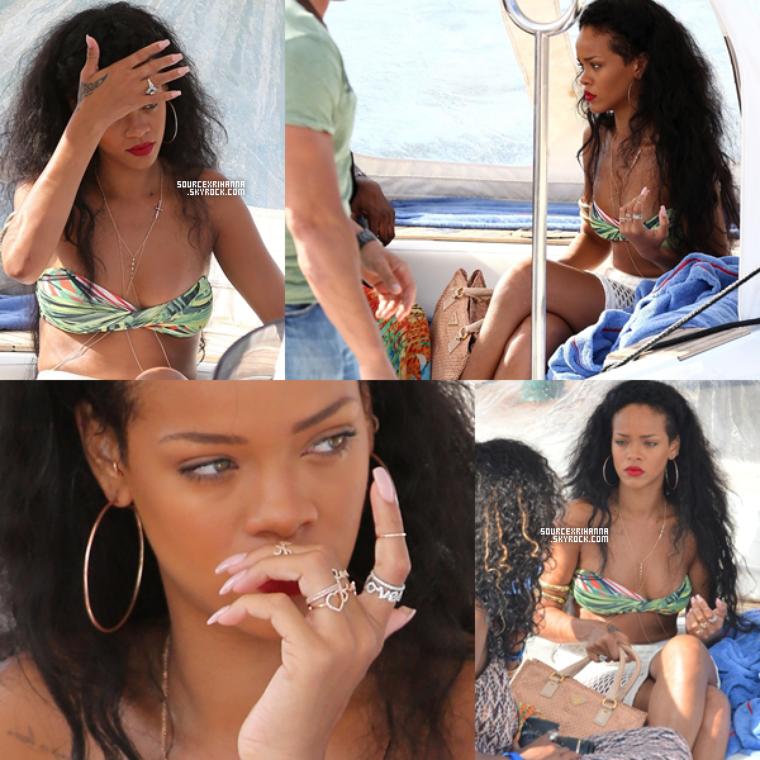 23JUILLET// Rihanna a encore fait du shopping à Saint Tropez avec ses amies.