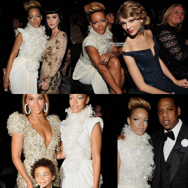 31/01/10: Notre magnifique Rihanna était aux célèbres Grammy's Awards.