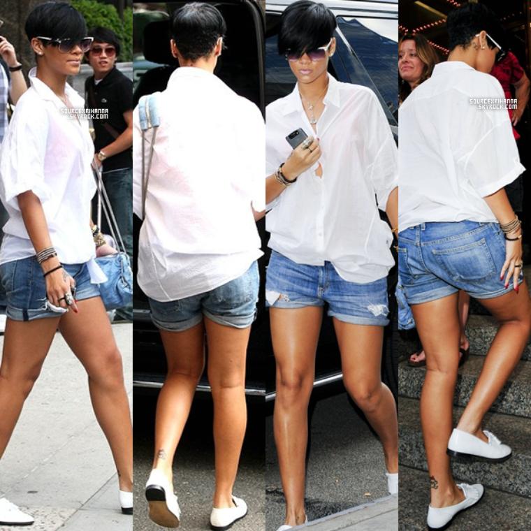 29/06/09: Rihanna arrivait et quittait par la suite son hôtel à NYC.
