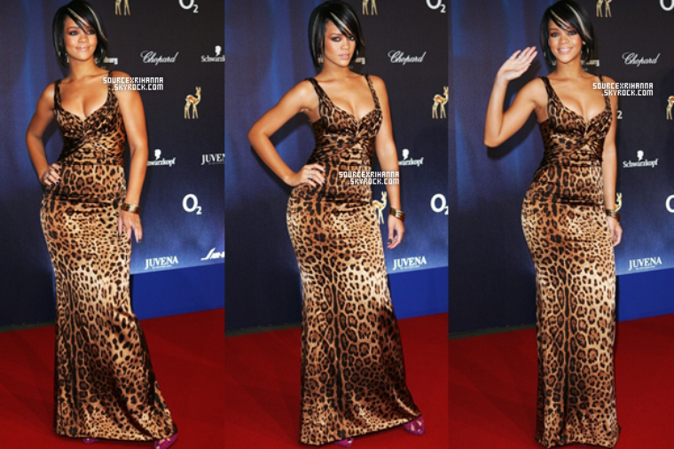 29/11/07: La belle Rihanna était présente au Bambi Media Price Awards.