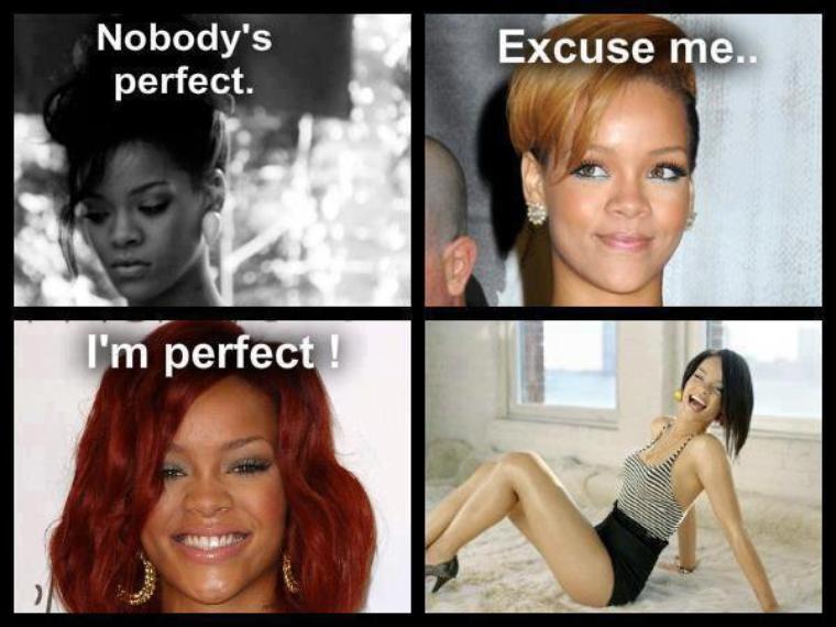 Mes trouvailles sur facebook à propos de Rihanna, à prendre avec HUMOUR !