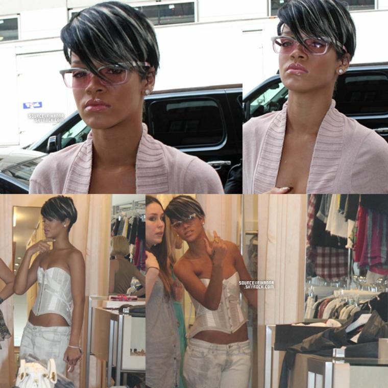 06/05/09: Rihanna faisait du shopping et cherchait un appartement à NYC.