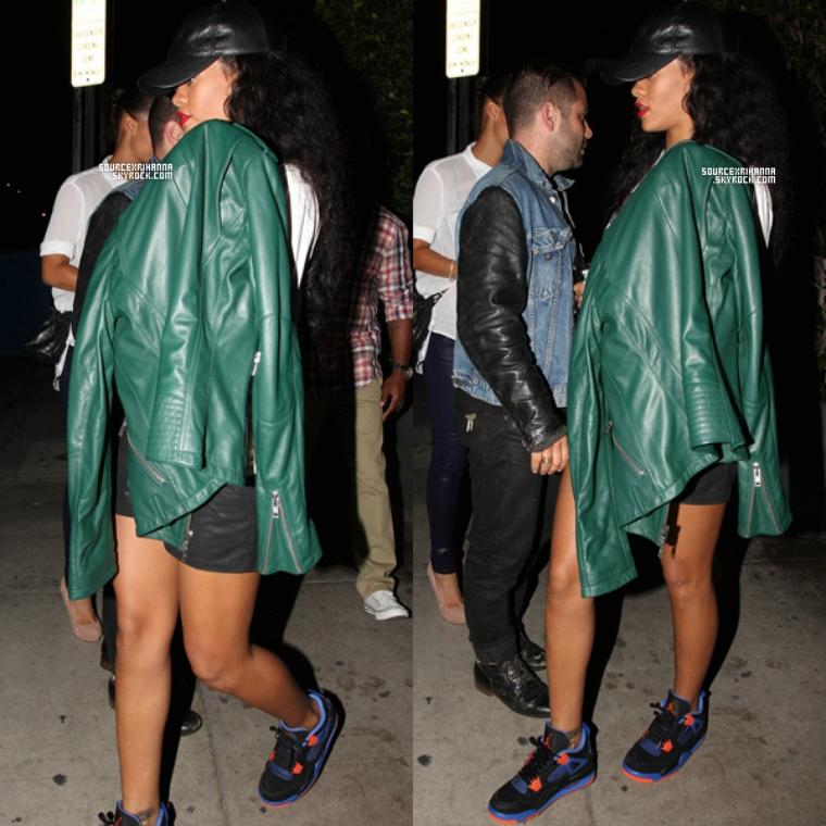 12AOÛT// Rihanna a été vu quittant le restaurant « Giorgio Baldi » à Los Angeles.