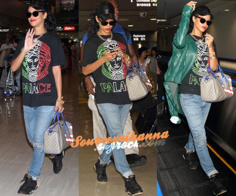 16AOÛT// Rihanna vu arrivant à l'aéroport « Narita » à Tokyo pour y performer un concert (festival).
