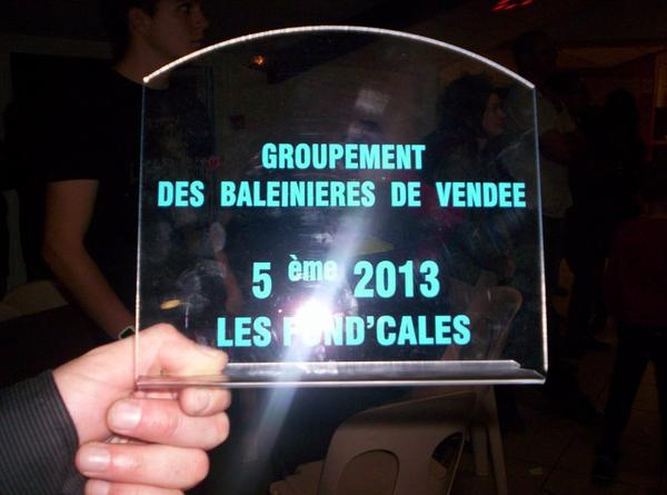 Soirée du regroupement des baleinière avec remise des trophées de la saison 2013!!!
