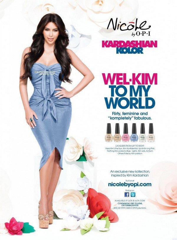 """_ ►Photoshoot  : Nouvelle photo promo avec Kim pour la marque """"Kardashian Kolor"""".  Kim annonce qu'il y a 6 nouvelles couleurs à la collection Wel-Kim to my World. _"""