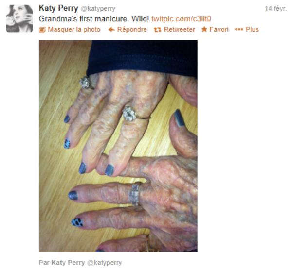 14/02 : Katy fait la toute première manucure de sa grand-mère // 22/02 : Bon anniversaire à Riri !
