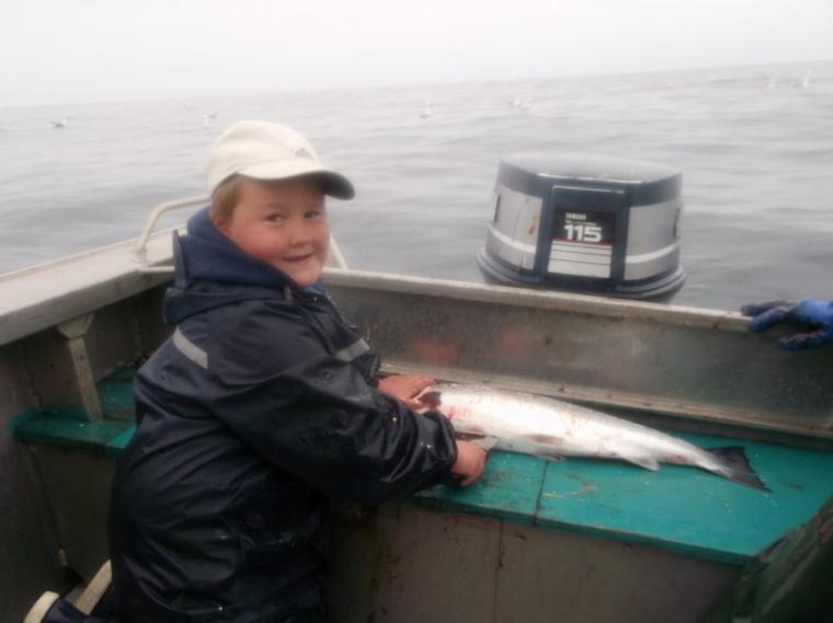 Qu'elle soit de moules , de saumons, de truites ou de homards cela est pour Noha  un vrai bonheur partagé avec papi