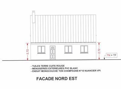 plan de façade de maison