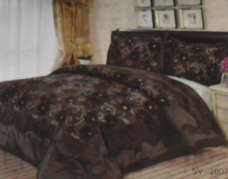 couvre lit marron  2 personnes  230 sur 250