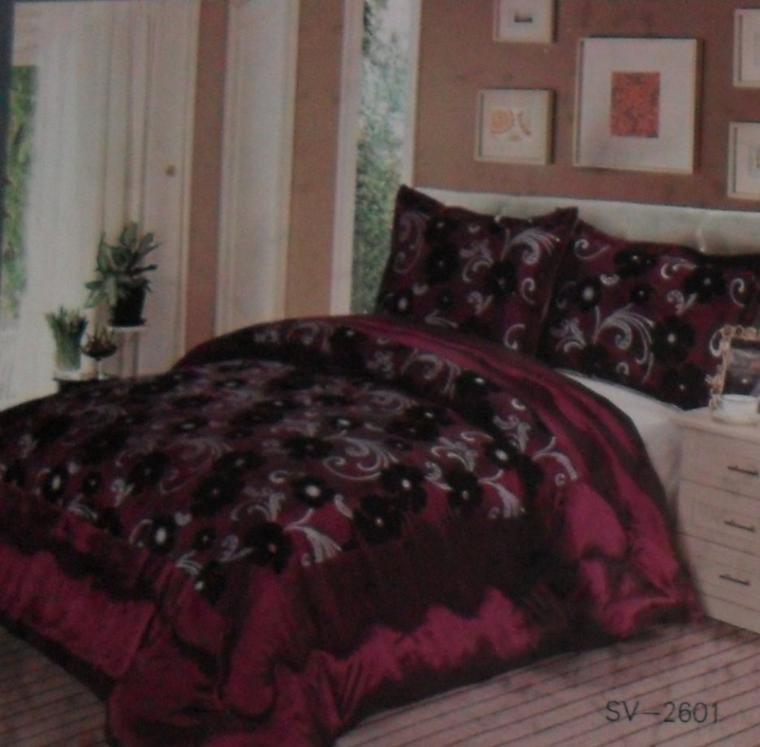 couvre lit bordeaux  2 personnes  230 sur 250