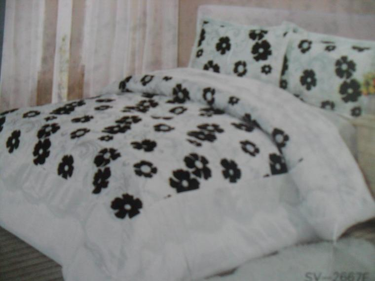 couvre lit blanche 2 personnes  230 sur 250