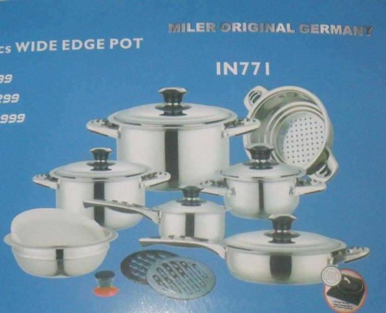 batterie de cuisine inox 18/10 - tapis59000